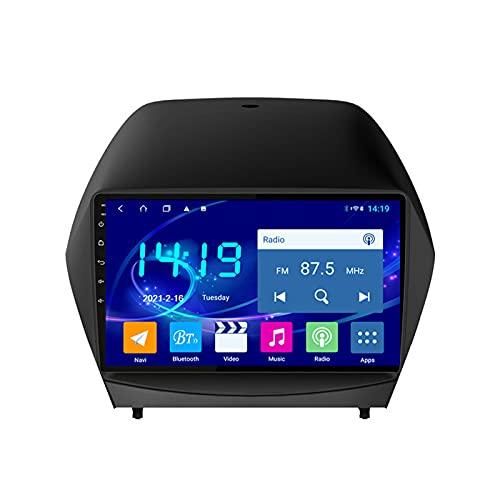 Radio del Coche Reproductor Multimedia Pantalla Táctil HD De 9'' con Cámara Trasera Apoyo Bluetooth/SWC/Carplay/DSP, Adecuado para Hyundai IX5 2009-2015,Octa Core,4G WiFi 2+32