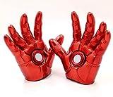 MIRECLE Iron Man Guante de Palm se Pueden iluminar Cosplay Apoyos Modelo Decoración 19CM (Color : Small Lamp Gloves)