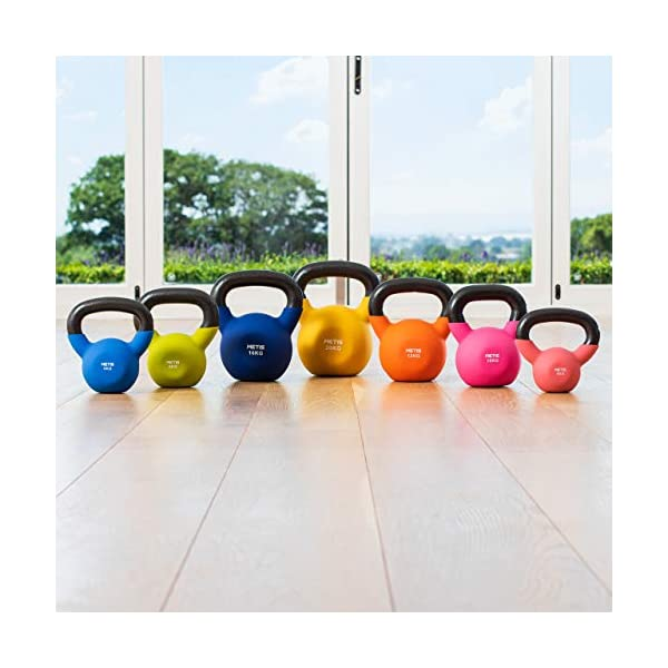 METIS Neoprene Kettlebells – 9lbs to 44lbs | Home Training and Gym Fitness –...