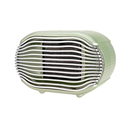 Calefactor Pequeños electrodomésticos Aire Caliente Portátil, calentador de ventilador del calentador de espacio personal Ventilador Mini eléctrico de escritorio Calefactores w.(Color: Azul), Color: V