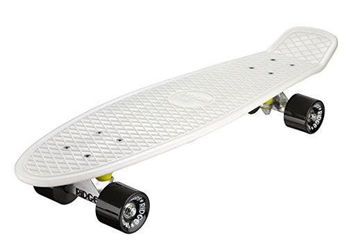 Ridge Skateboards 27' Mini Cruiser Skateboard completo, Glow in the Dark, Incandescente, Nero