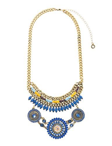 Desigual 17WAGOH75000U - Collar para mujer (44 cm, bañado en plata)