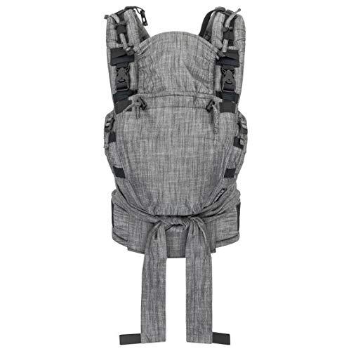 Hoppediz ♥ NABACA Komfort-Modultrage Basic-Set Popeline denim schwarz - Babytrage ab Geburt ✓ Bauchtrage ✓ Rückentage ✓ Individuell anpassbar ✓ Ausgezeichnet ✓