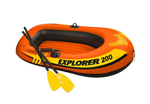 Intex Explorer 200, 2-Person Inflatable Boat Set with French Oars and Mini Air-Pump