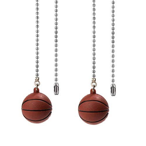 Ceiling Fan Pull Chain Ornaments Extension Basketball Light Pull Chains for ceiling fans Lights Lamp 2Pack