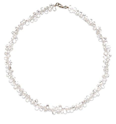 Bergkristall Schmuck (Halskette) Bergkristall Kette Bergkristall Tropfen Größe ca. 6 mm Verschluss 925er Sterling-Silber Modellnummer 203A