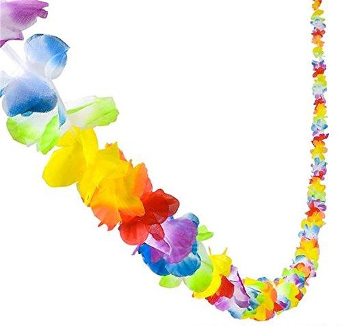 Luau Hawaiian Decorations - 9' Jumbo Flower Lei Garland