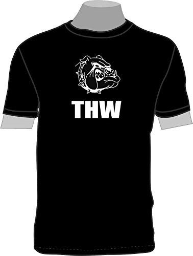 THW Dogge; T-Shirt; schwarz; Unisex; 46; Gr. S