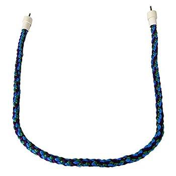 Perchoir en corde pour perroquet, corde en coton incurvée rotative pour perroquet, perruche, calopsitte, conure, inséparable, pinson, ara, éclectus africain