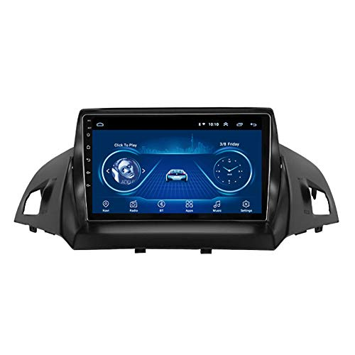 Kilcvt 2G RAM 9-Zoll-IPS-Touchscreen Android 8.1 Radio GPS-Navigation, FüR Ford Kuga Escape 2013-2017 UnterstüTzung WiFi/Bluetooth/Spiegelverbindung/Lenkradsteuerung,4g+WiFi: 2+32g
