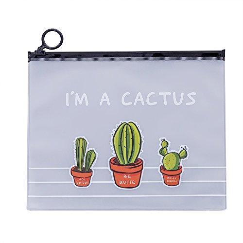 Mogist Cactus - Estuche plástico PVC transparente