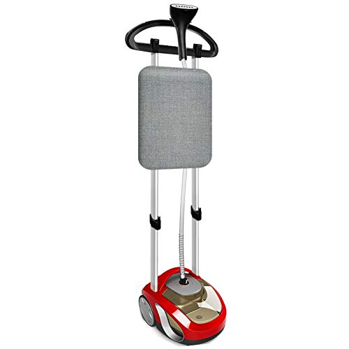 Las prendas de vapor de 1400 W vertical - Plancha con calentamiento rápido - Elemento portátil - Ideal para el hogar - Oro jsmhh rojo