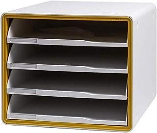 Armoires fichier Plastique Bureau Creative Stockage Étude Cabinet Extension de Bureau Tiroirs Blanc 29 × 34 × 24cm UOMUN (...