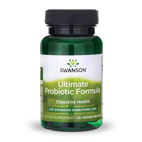 Swanson Ultimate Probiotic Formula Digestive Health Immune System Support 66 Billion CFU Prebiotic NutraFlora scFOS 30 DRcaps Veggie Capsules (Caps)