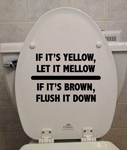 Als het geel is, laat het dan smelten. Wc-bril - autosticker Bumper Sticker raamsticker Laptop Sticker - 4 inch - 2 Pack 10 inches Meerkleurig
