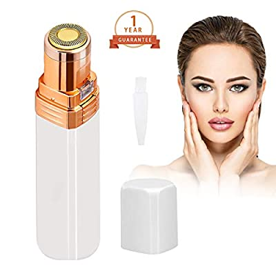 Facial Hair Remover for Women, Flawless Painless Lady Shaver Mini Epilator Womens Electric Trimmer with Cleaning Brush for Face Hair Removal, Cheek, Upper Lips, Peach Fuzz, Finger Hair