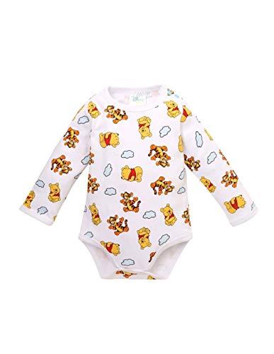 Winnie the Pooh Body de manga larga para bebé niño y tigre, color blanco, de 3 a 24 meses blanco 18 Meses