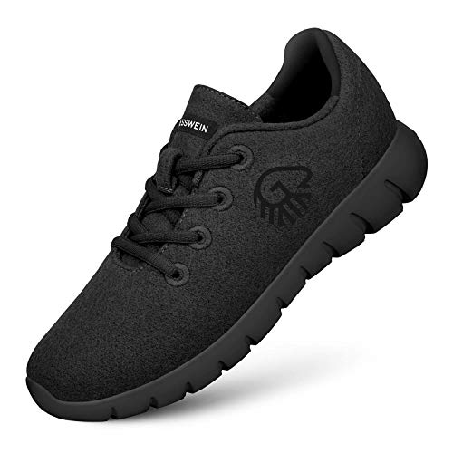 GIESSWEIN Herren Woll-Sneaker Merino Runners, Schwarz, 42 EU