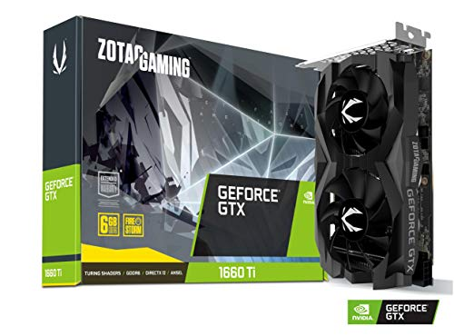 ZOTAC GAMING GeForce GTX 1660 Ti Twin Fan Grafikkarte (NVIDIA GTX 1660 Ti, 6GB GDDDR6, 192bit, Boost-Takt 1770 MHz, 12 Gbps)
