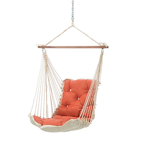 Hatteras Hammocks Echo Sangria Sunbrella Tufted Single Swing, 350 LB Weight Capacity, Handcrafted in The USA, Perfect for Indoor or Outdoor Use