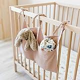 FBGood Sac de Rangement Suspendu– Lit de Bébé Poche Organisateur Pépinière Solide Jouets de Chevet Suspendus Sac de Rangement (Rose)