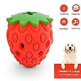 Beewarm Hundespielzeug Unzerstörbarer Erdbeerduft Ungiftige, bissresistente Hundekauspielzeuge Food Treat Feeder Zahnreinigung Übungsspiel