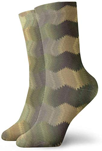 not applicable Mens Kleid-Socken-Pack Linien Wellig Glanz Lustige Polyester Crew Socken