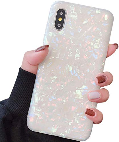 Compatible with iPhone Xs Max Cases Cute,Glitter Phone Case Girls Women Pretty Design Protective Slim Shockproof Pearly-Lustre Shell Bumper Soft Silicone TPU Cover for iPhone Xs Max Colorful