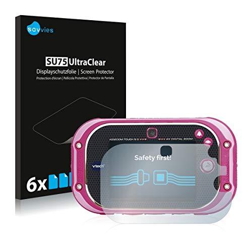 6X Savvies SU75 UltraClear Displayschutz Schutzfolie für Vtech Kidizoom Touch 5.0 (ultraklar, einfach anzubringen)