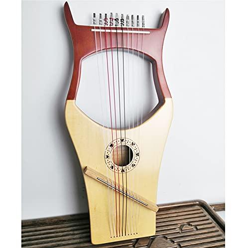 Tyfiner Arpa de Lira, 10 Cuerdas de Metal, con Bolsa de Transporte Lira Portátil Regalos para Principiantes, Amantes de la Música,002,10 Strings