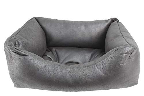 Cuna para Perros de tapicería Resistente, Cama para Mascotas Antideslizante y cálida. (52x42x20(Pequeño), Negro)