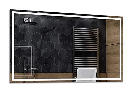 Alasta® | Badspiegel mit LED Beleuchtung | Viele Größen | Kaltweiß Warmweiß Neutralweiß | Wandspiegel Badezimmerspiegel Spiegelwand Spiegel LED Badspiegel | Atlanta