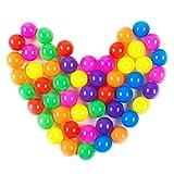 100 Pelotas, Bolas de Colores Bolas de plastico niños Juguetes para bebés natación Pelotas natación para Niños Piscina de Bolas Hinchable Unidades de PVC con Bolsa de Transporte