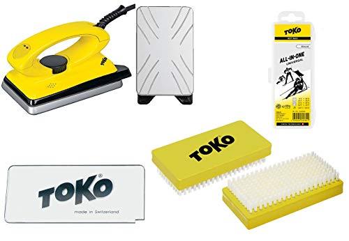 Toko 4-teiliges Skiwax-Set mit Wax-Bügeleisen - für Alpin + Nordic + Board