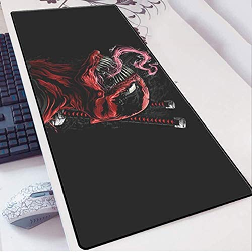 WYQLZ Gaming Mouse Pad Large Mouse Mat The Avengers Superhero Venom Game Keyboard Extended Mousepad for Computer PC Mouse Pad (Color : 18, Size : 800×300×3mm)
