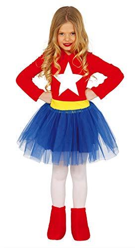 FIESTAS GUIRCA Disfraz Wonder heroína niña Talla 5-6 años