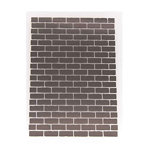 Fondo de pared de ladrillos carpeta de plástico para scrapbook DIY álbum tarjeta herramienta plástico plantillas carpetas