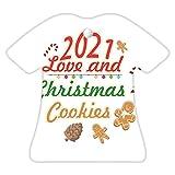 VinMea Adorno de Navidad con diseño de galletas de amor y Navidad, regalo de vacaciones, decoración de árbol de Navidad, adorno divertido, regalo de 3 pulgadas