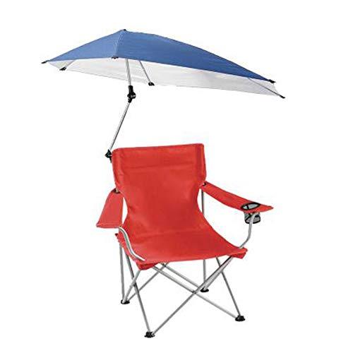 LQ ZTT Silla de Picnic Plegable, Silla de jardín portátil con sombrilla, Silla de Playa de Pesca con portavasos y reposabrazos, Adecuada para jardín de Camping al Aire Libre (Color : Rojo)