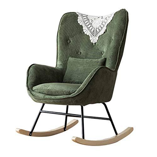 XLSQW Silla Mecedora para Interior, cómoda Silla Mecedora de relajación, Muebles, sillas, sillón,...