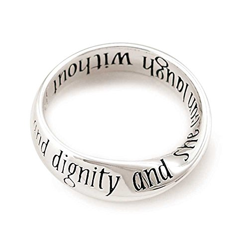 Jozie B She is Clothed Strength Dignity Womens Silver Plated Twist Ring Size 7