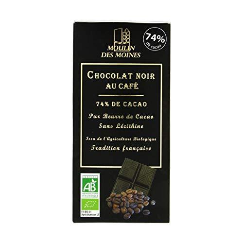 Moulin Des Moines - Chocolat noir au café 3x100G Bio - Tarif Dégressif - Option Cadeau