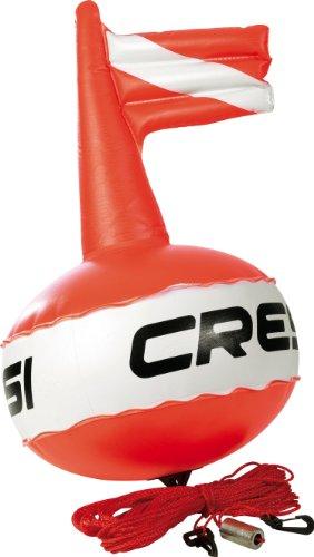 Cressi TA611500 Boa di segnalazione, Rosso Fluo/Bianco