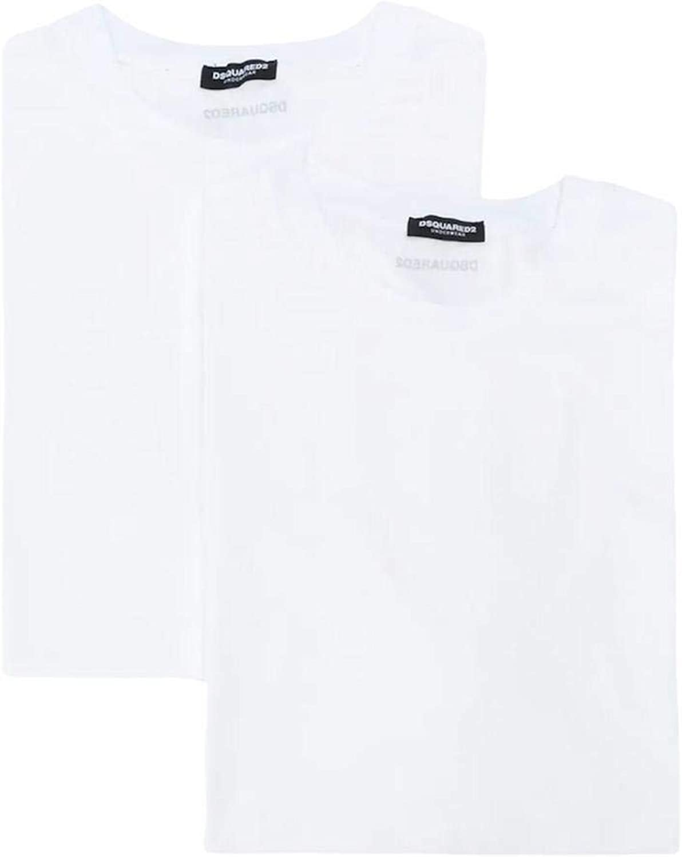 2 unidades DSQUARED2 Camiseta de cuello redondo para hombre