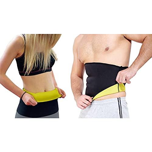 Vantage® Shaper Non-Tearable Belt for Men and Women (Size S, M, L, XL, XXL, 3XL, 4XL) (Black)