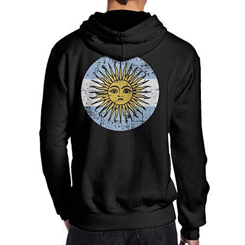 IUBBKI Argentina Flag Men 's Hoodie Sudadera con Capucha