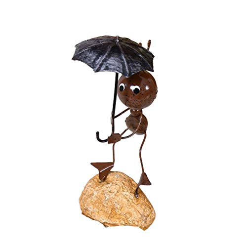 Bireegoo Escultura de metal creativa para decoración de hormigas de hierro retro para jardín al aire libre, figura de estatua de decoración de arte ornamentos para niños modelo de hormigas reg