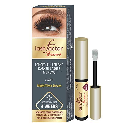 Lashfactor, producto que acelera el crecimiento de las pestañas y cejas en tan sólo 4 semanas, probado por un dermatólogo y un oftalmólogo, 2ml