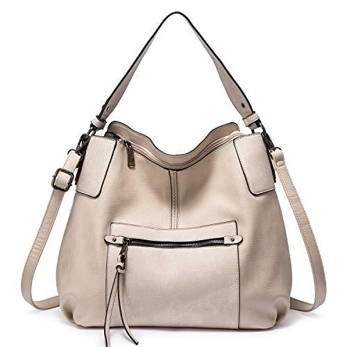 Realer Hobo Geldbörsen und Handtaschen für Damen, Schultertasche Große Crossbody Taschen mit Quaste