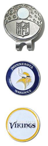 Team Golf 31647 Minnesota Vikings Clip de Casquette avec 2 marqueurs de Balle de Golf, Multicolores, Taille Unique